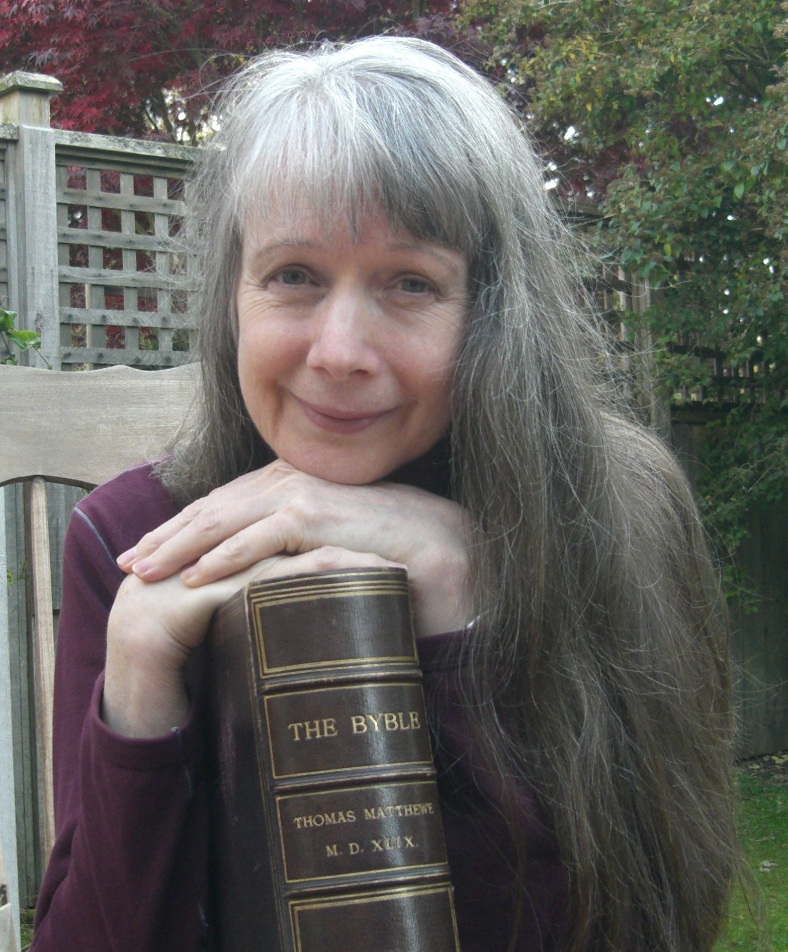 Ruth Magnusson Davis with the Matthew Bible