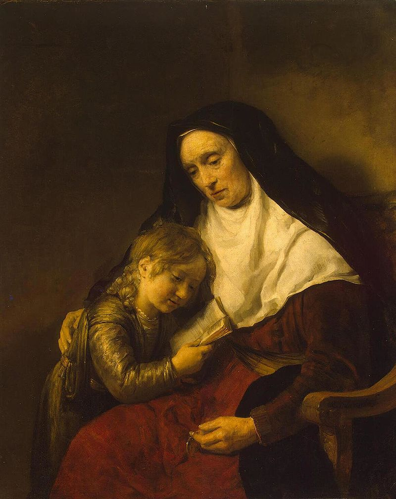 Timothy and His Grandmother by Rembrandt, 1648