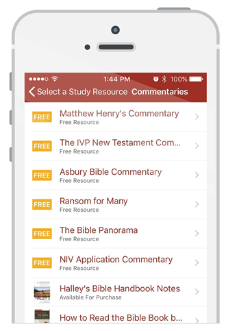 Download the free Bible Gateway App