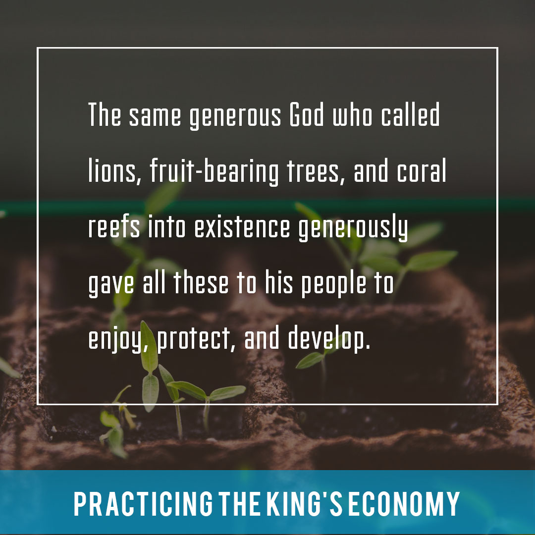 Quote from Practicing the King's Economy