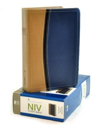 Buy your copy of NIV Study Bible, Soft Leather-Look, Tan/Blue Thumb-Indexed in the Bible Gateway Store where you'll enjoy low prices every day