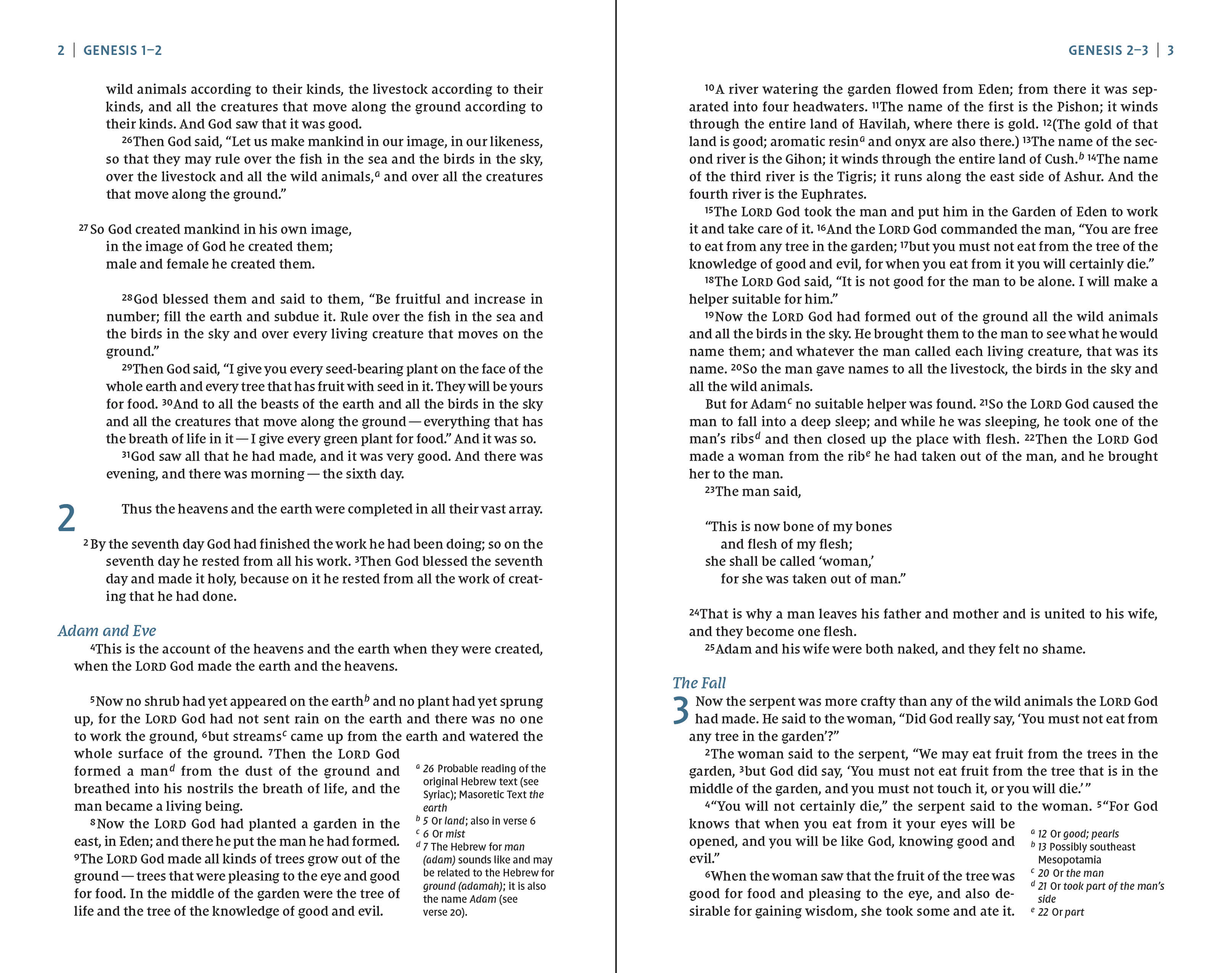 Click to enlarge this page sample of the NIV Comfort Print Heritage Bible