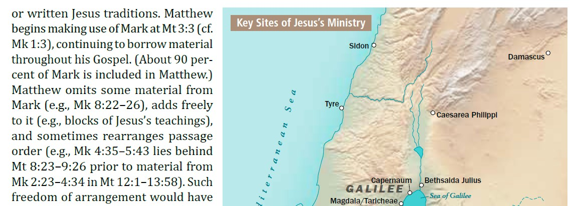 Click to enlarge: the CSB Baker Illustrated Study Bible includes maps