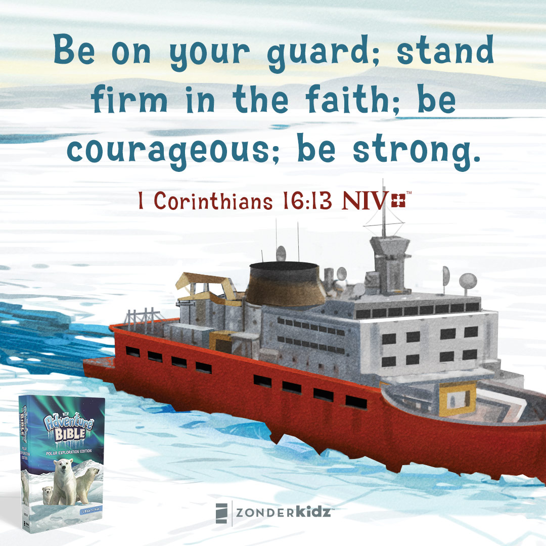 Enlarge and share this social meme for the NIV Adventure Bible: Polar Exploration Edition