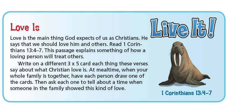 Live It! is a hands-on activity feature of the NIV Adventure Bible: Polar Exploration Edition
