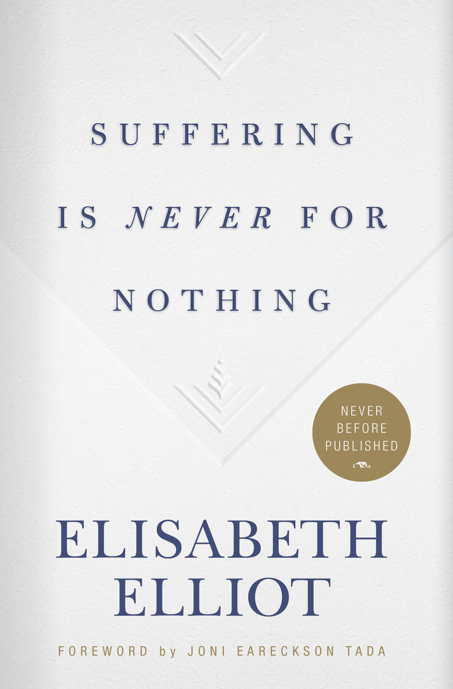 Buy your copy of Suffering Is Never for Nothing in the Bible Gateway Store where you'll enjoy low prices every day