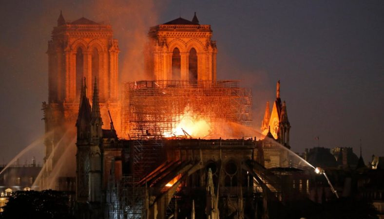 Notre-Dame cathedral burning