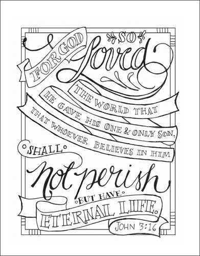 Print and color this John 3:16 verse