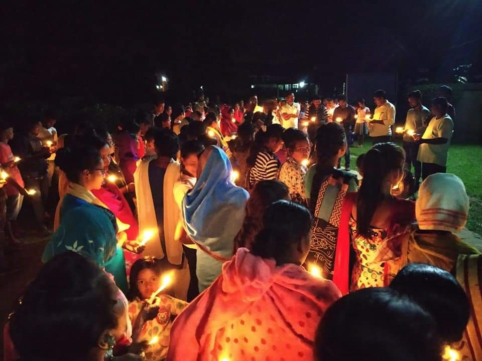 Christians in South Asia (location omitted for safety concerns) gathered in a prayer meeting for Sri Lanka after the Easter Sunday church suicide bomb attacks