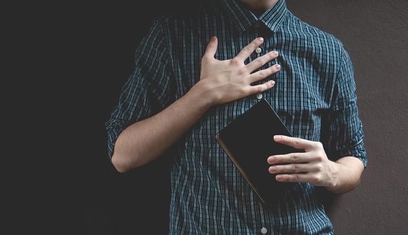Hand Heart Bible illustration
