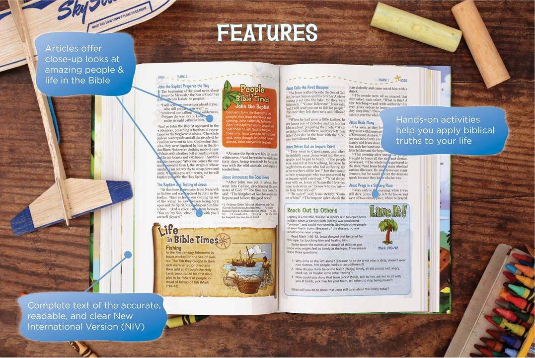 Click to enlarge this image of the interior of the Adventure Bible