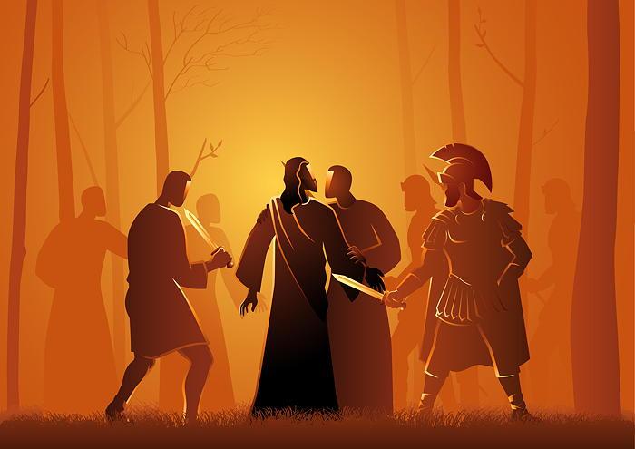 The arrest of Jesus illustration