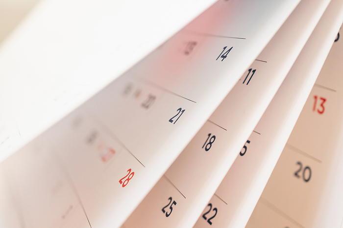 Calendar pages illustration