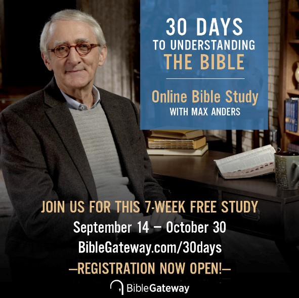 Join the free 30 Days to Understanding the Bible Online Bible Study Online Bible Study