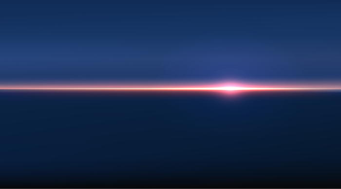 Stylized view of a horizon to illustrate faith and doubt