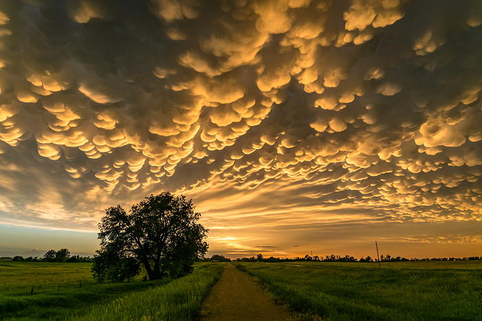 Dramatic clouds in the sky