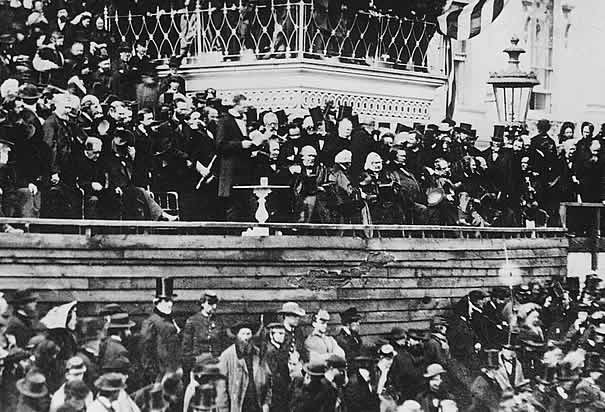 Photo of Abraham Lincoln's second inauguration