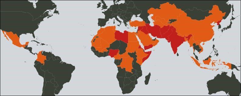 Open Doors 2021 Interactive World Watch Map