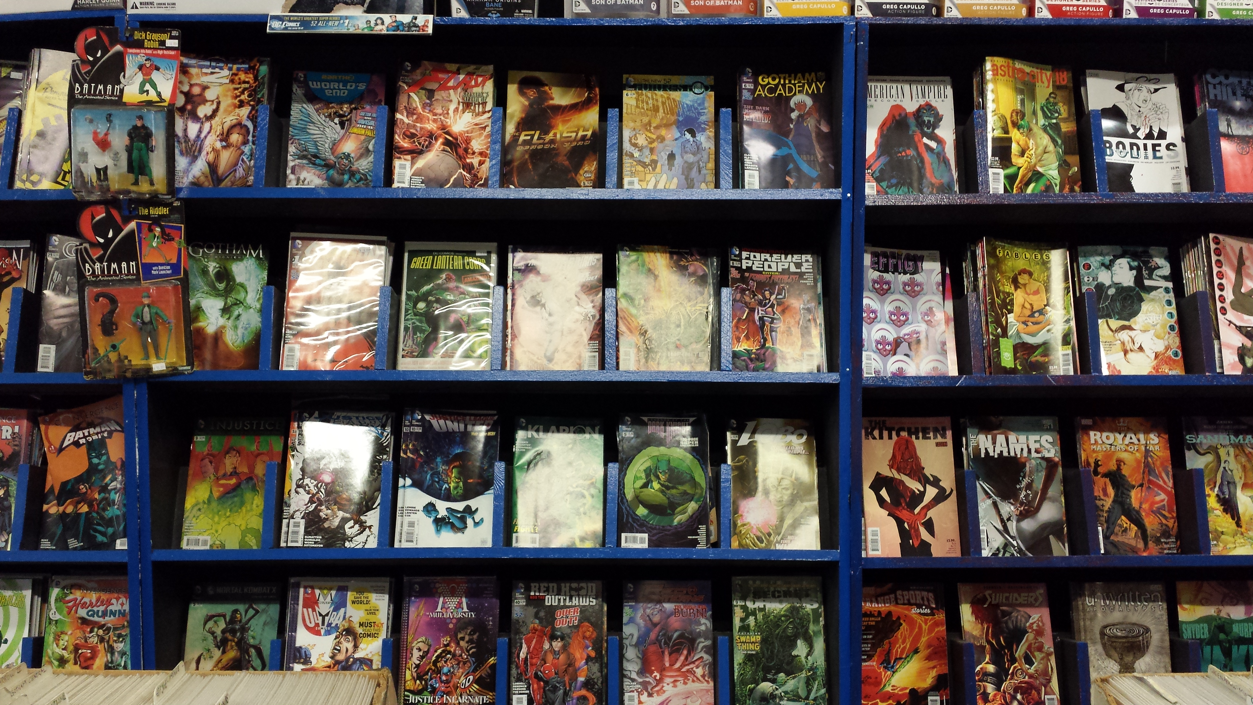 It all started with free comic book day for Comic book box shelves
