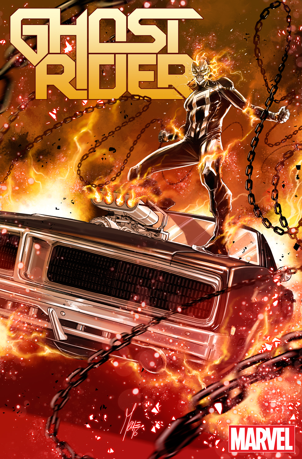 ghost rider #1 brings vehicular vengeance to marvel now! - black