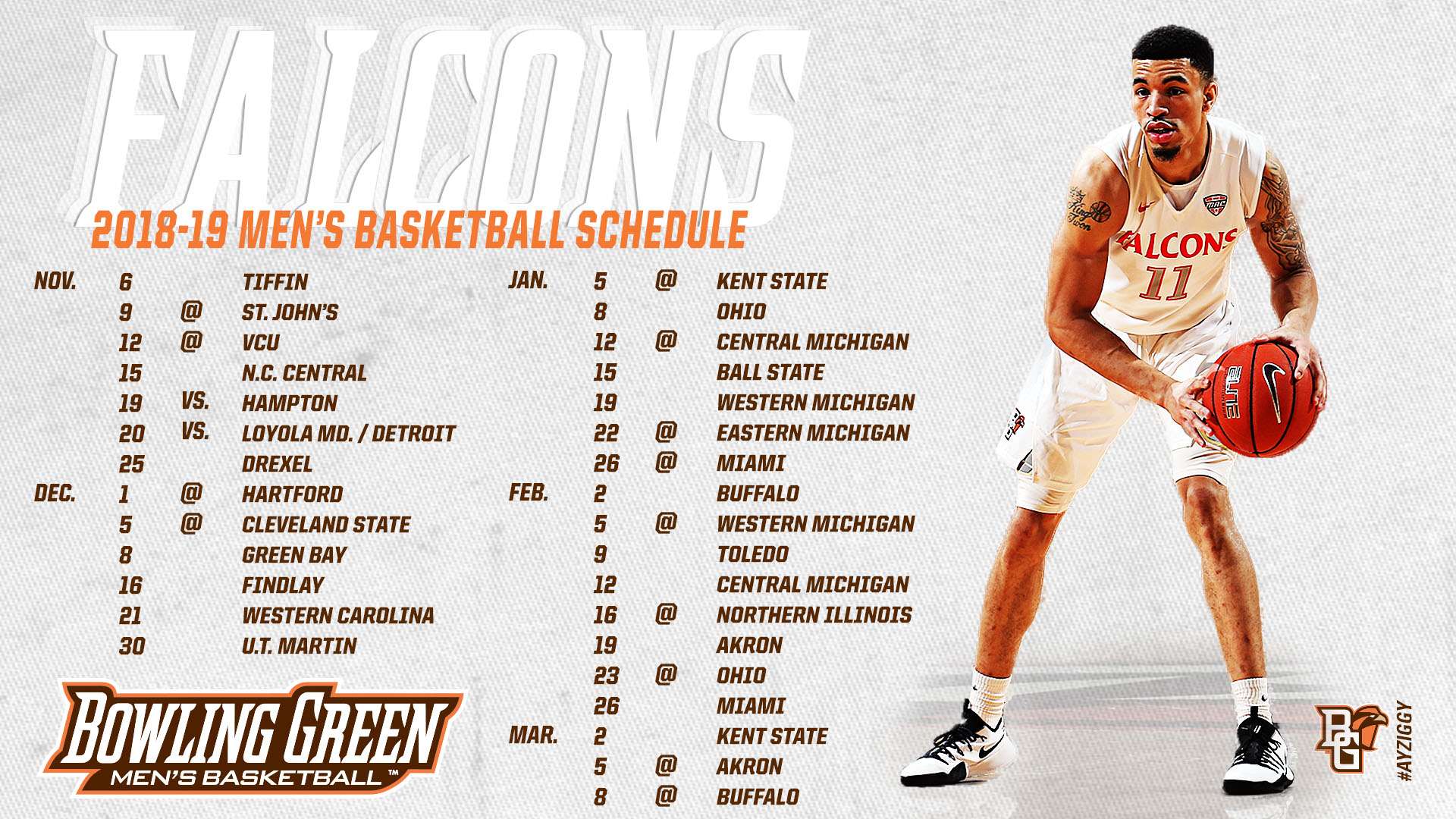 men s basketball announces 2018 19 schedule bowling green state