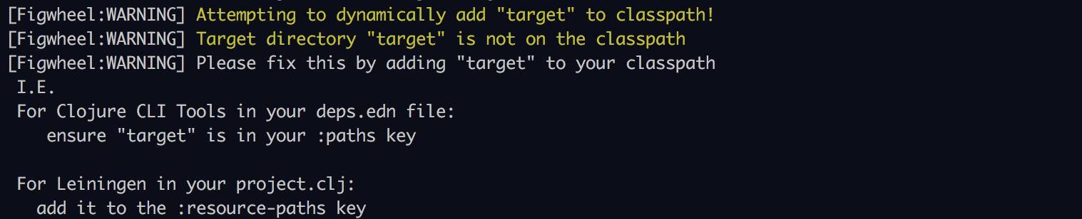 target classpath warning