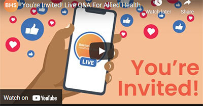 You're Invited! Live BHS Q&A For Allied Health