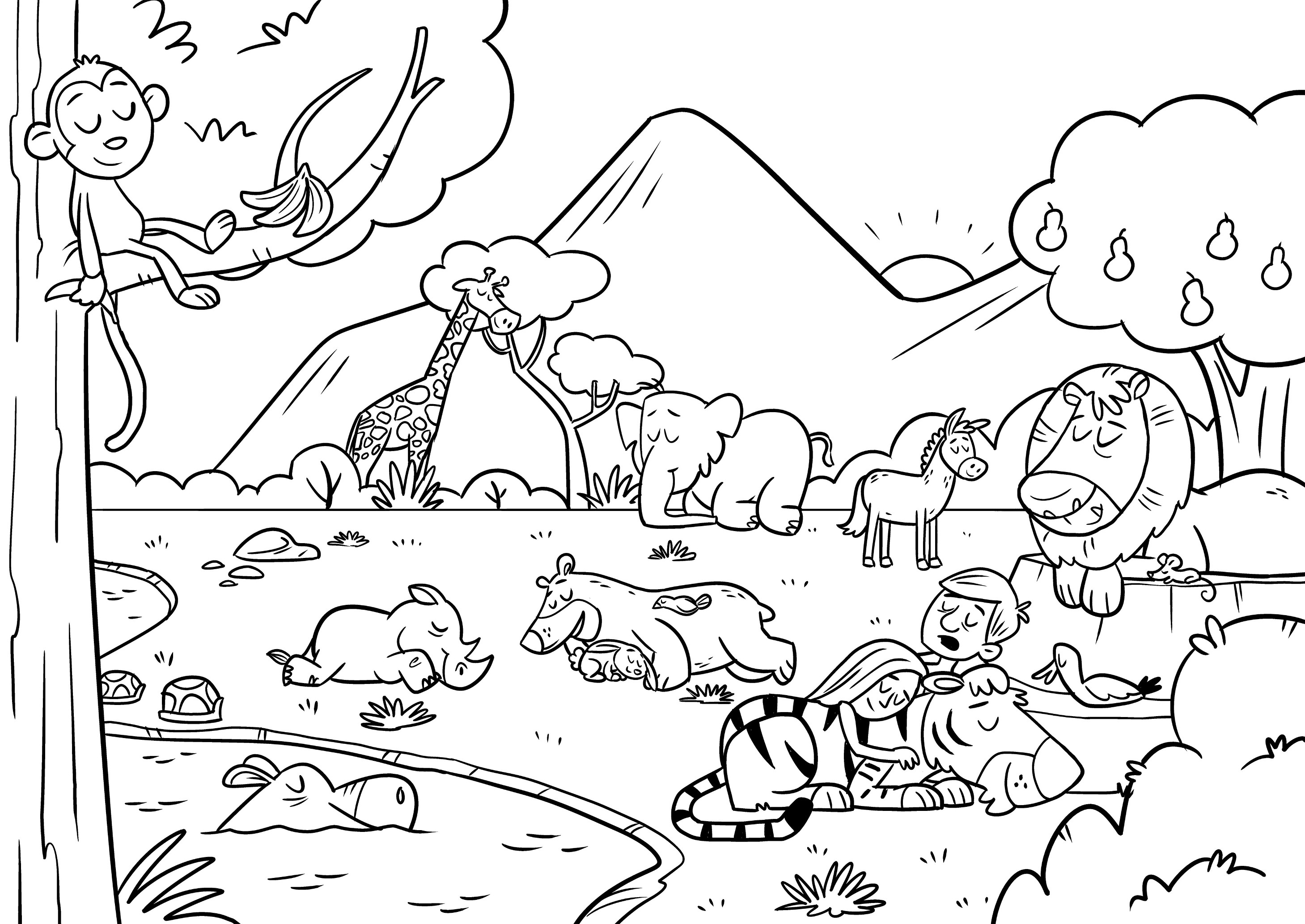 In The Beginning Coloring Sheet