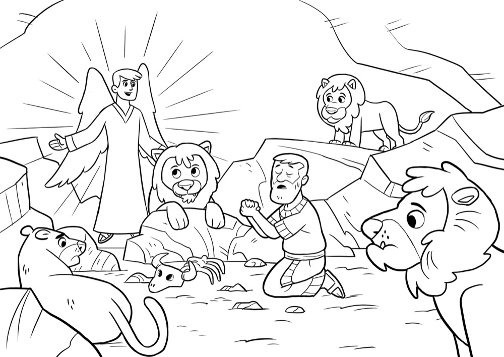 bible app for kids coloring sheets a roaring rescue coloring sheet
