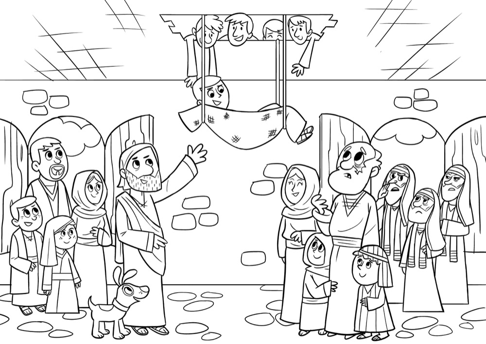 Through The Roof Coloring Sheet