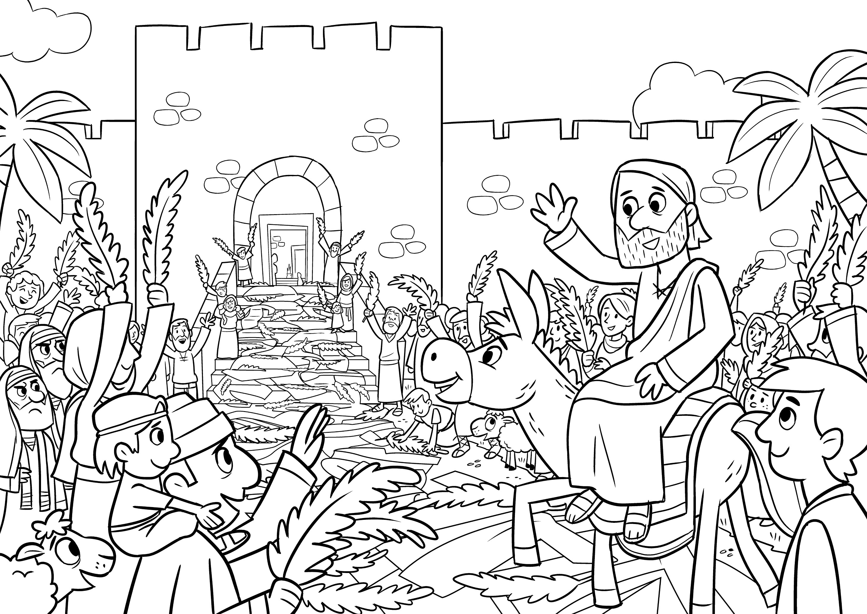 The Donkey And King Coloring Sheet
