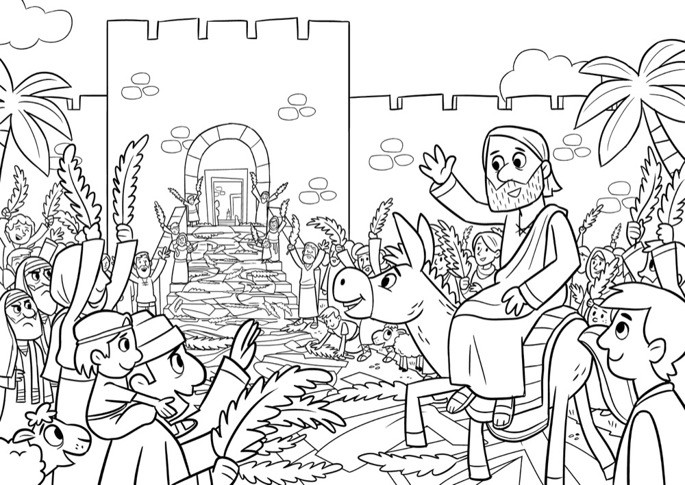 coloring pages triumphal entry - photo#23