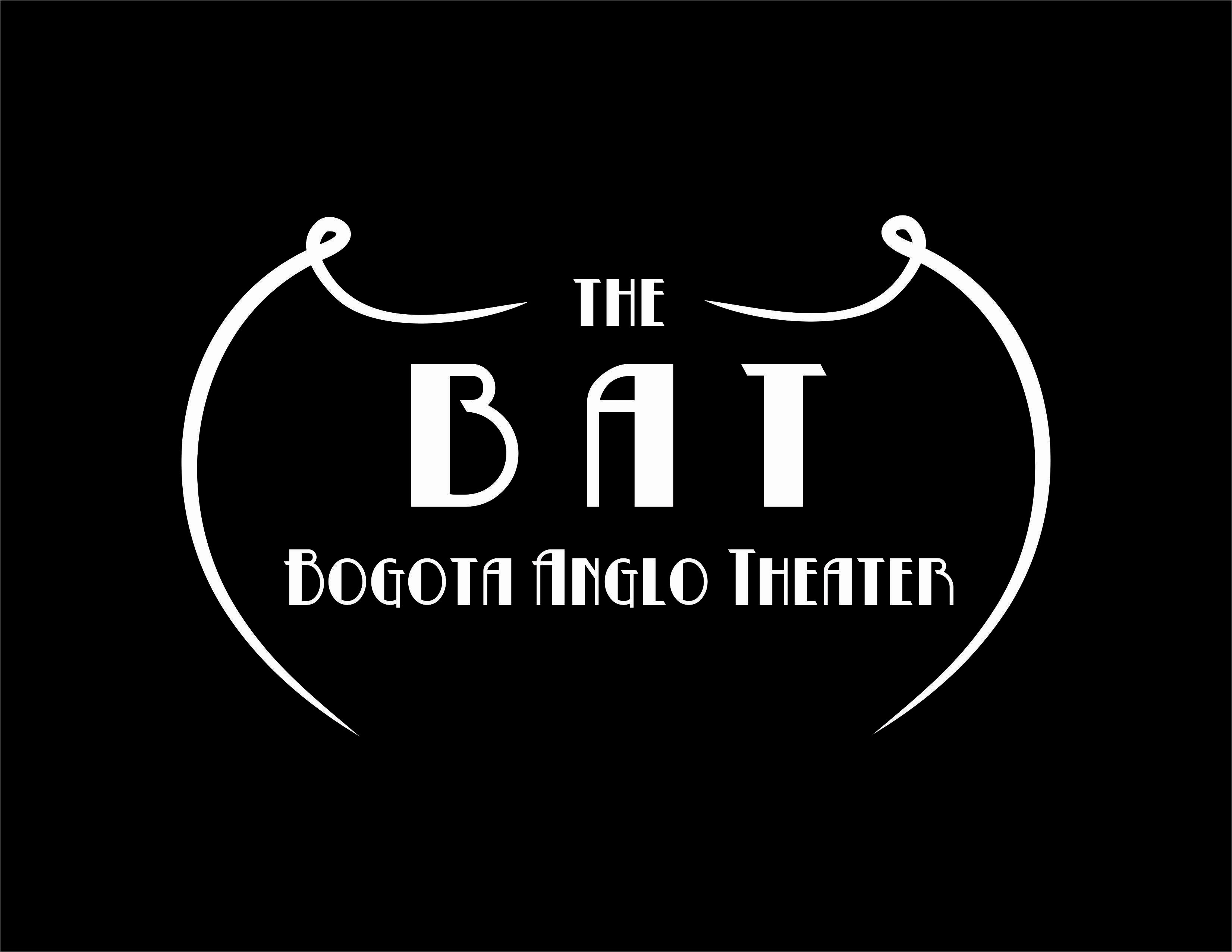 The bat   logo black background