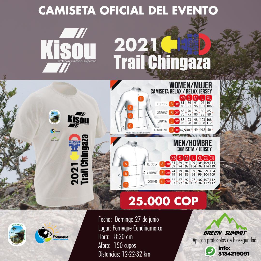 13 camiseta oficial del eventotrail chingaza  2021
