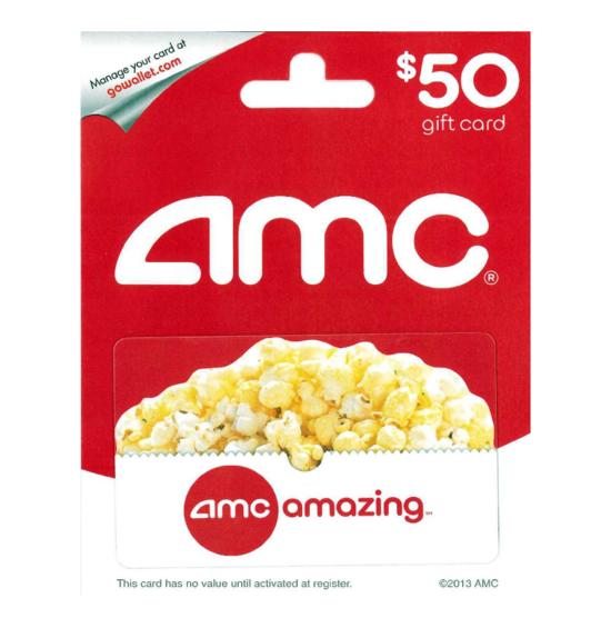 AMC Theatre $50 Gift Card
