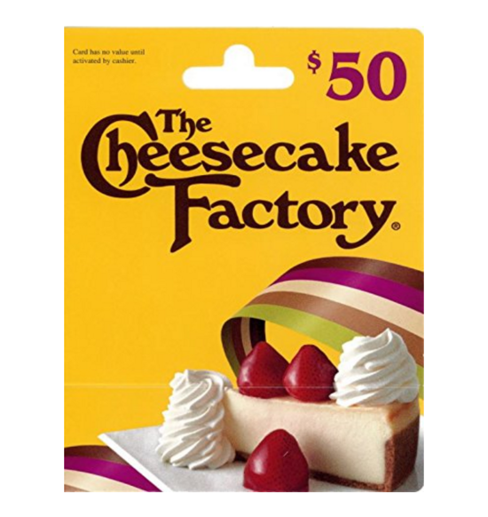 The Cheesecake Factory $50 Gift Card