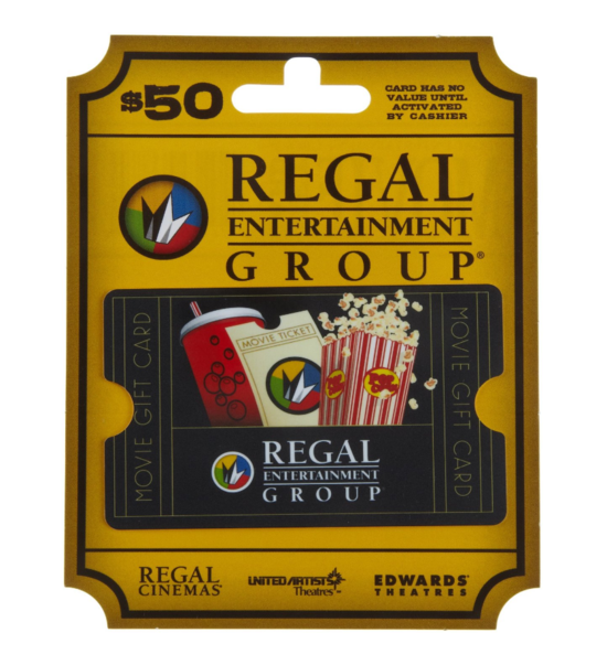 Regal Entertainment $50 Gift Card