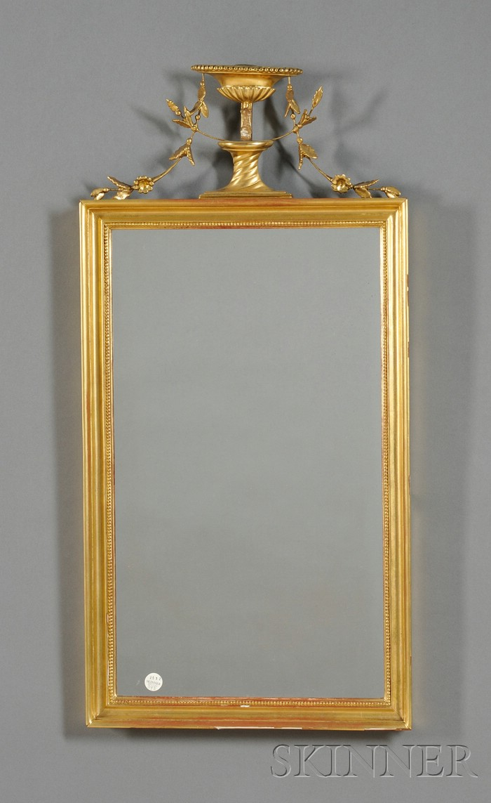 Adam style giltwood and composition mirror sconce bidsquare for Adam style mirror