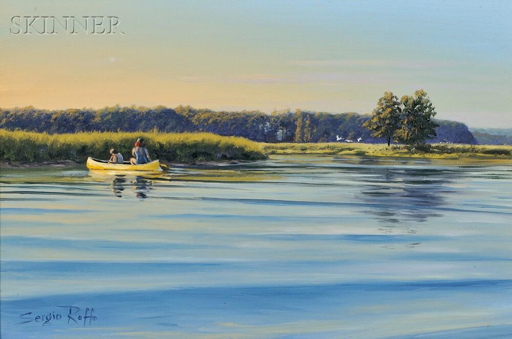Albert Felix Schmitt, (American, 1873-1953), Marsh Landscape with ...