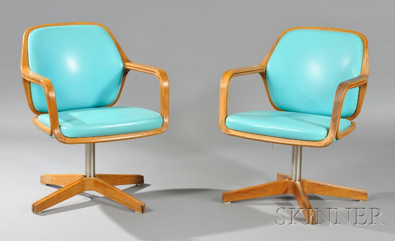 Two Armchairs By Charles Pollock For Knoll Associates