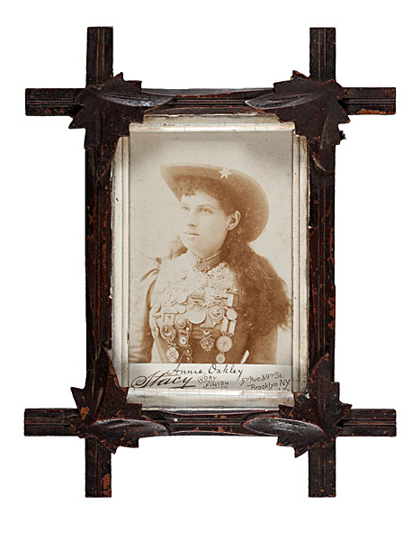 Annie Oakley Cabinet Card Photograph By Stacy Bidsquare
