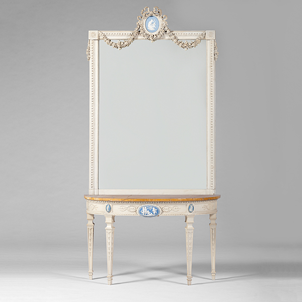 Robert adam style pier table and mirror bidsquare for Adam style mirror