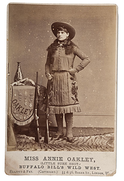 Annie Oakley Cabinet Photograph By Elliott Fry Bidsquare
