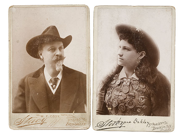 Stacy Cabinet Cards Of Annie Oakley And Buffalo Bill Bidsquare