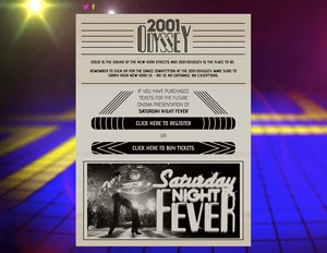 """Homepage of the companion site for """"Saturday Night Fever"""""""