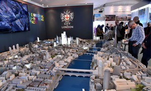 The City Model on show at the Mipim conference in Cannes. Photograph: ASM/SIPA/REX/Shutterstock