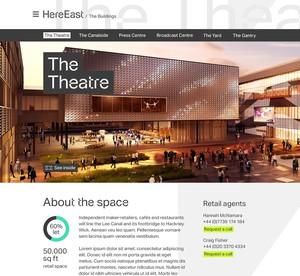 Here East commercial unit profile template, desktop view