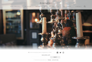 The Fontaine homepage