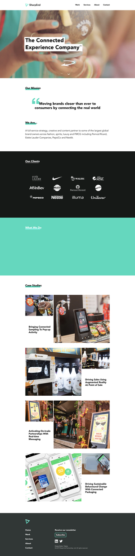 The SharpEnd homepage, desktop view