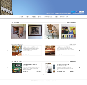The Lillie Road Association homepage, desktop layout